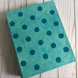Other - Blue Dotted Notebook with Handmade Paper